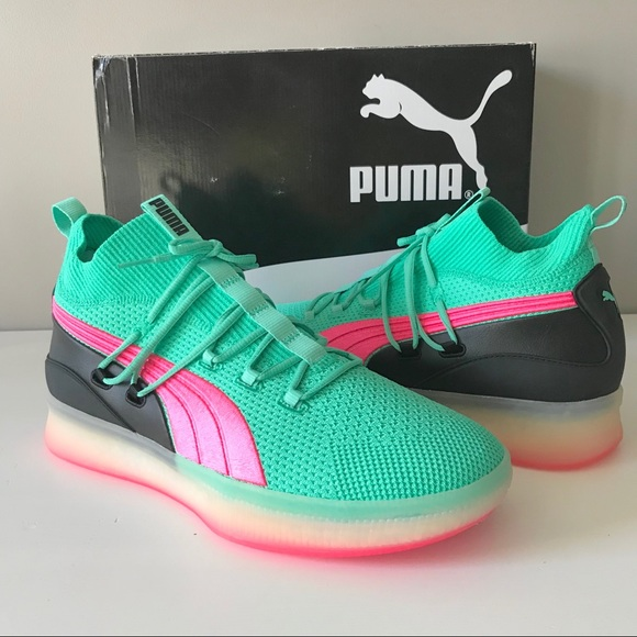 the best attitude 255a8 a73d8 Puma Clyde Court disrupt South Beach green sneaker NWT